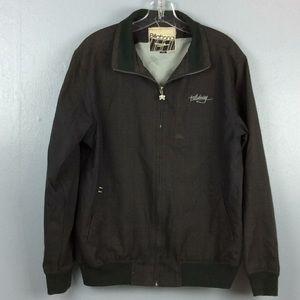 Billabong Mens Glen Plaid Full Zip Lined Jacket L